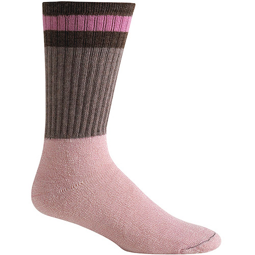 Realtree Classic Boot Sock, Medium, Women's Shoe Size 6-10, Gray/Pink