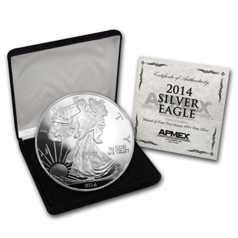 4 oz Silver Round - 2014 Silver Eagle (w/Box & COA)