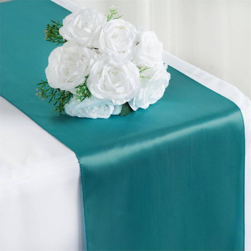 Oussum Satin Table Runners For Weddings Birthday Party Banquets Decor Round Table Linen 12 X 108 Online 10 Pcs Walmart Com Walmart Com