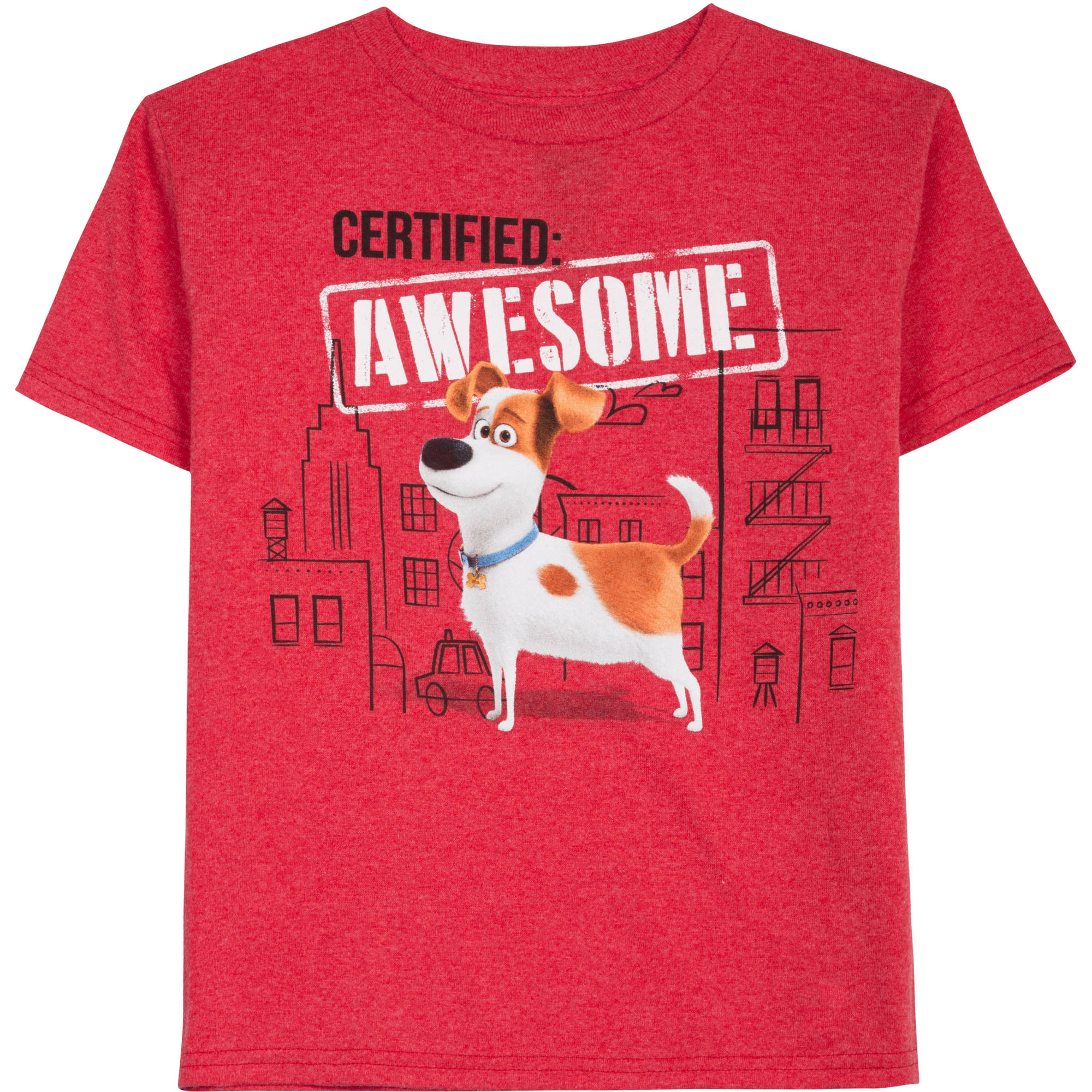 Secret Life of Pets Boys' Certified Awesome Graphic Tee