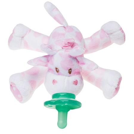 Nookums Paci-Plushies Buddies Pink Giraffe Pacifier Holder (Giraffe Pacifier)
