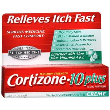 Cortizone-10 Force maximale plus Anti-Itch Crème (1 oz Lot de 2)