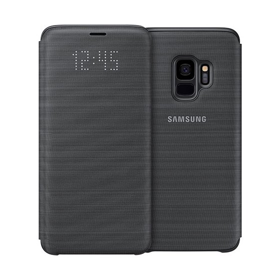 new concept 13a28 fc604 Samsung LED Wallet Cover for Samsung Galaxy S9 - Black - Walmart.com