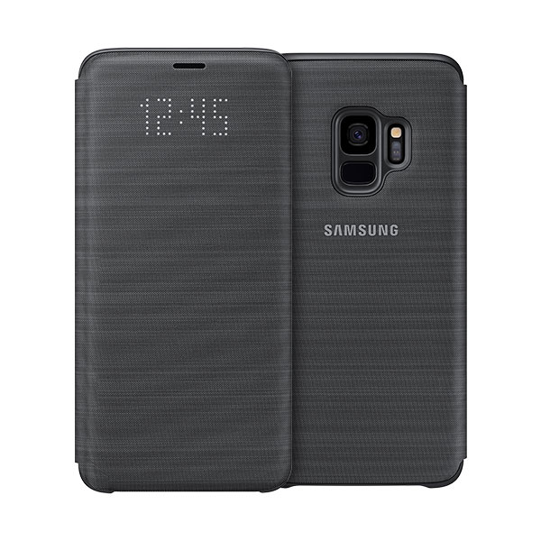 Samsung LED Wallet Cover for Samsung Galaxy S9 - Black