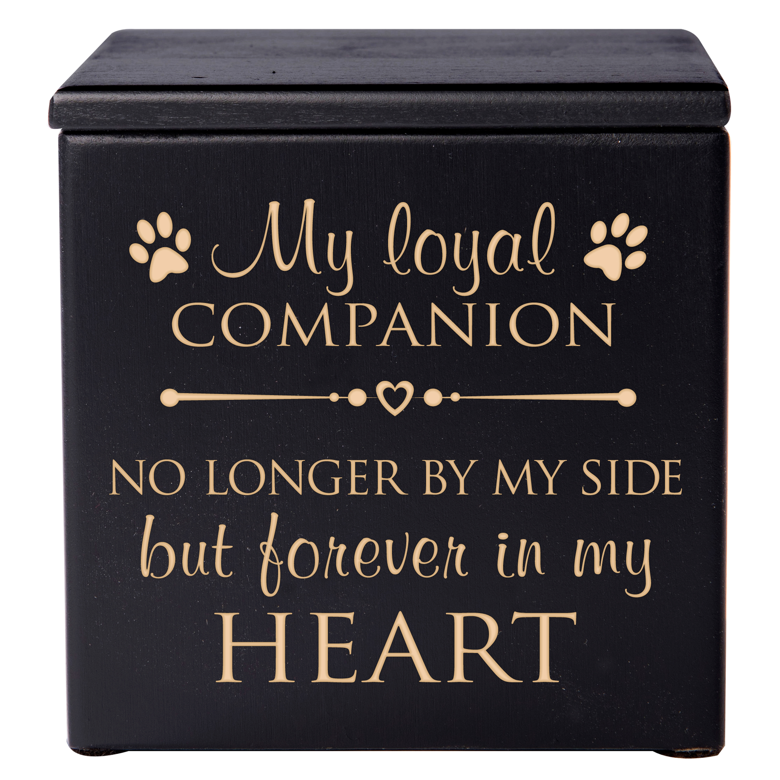 Pet Cremation Urn - My Loyal Companion No Longer By My Side But Forever in My Heart - Small (Black)