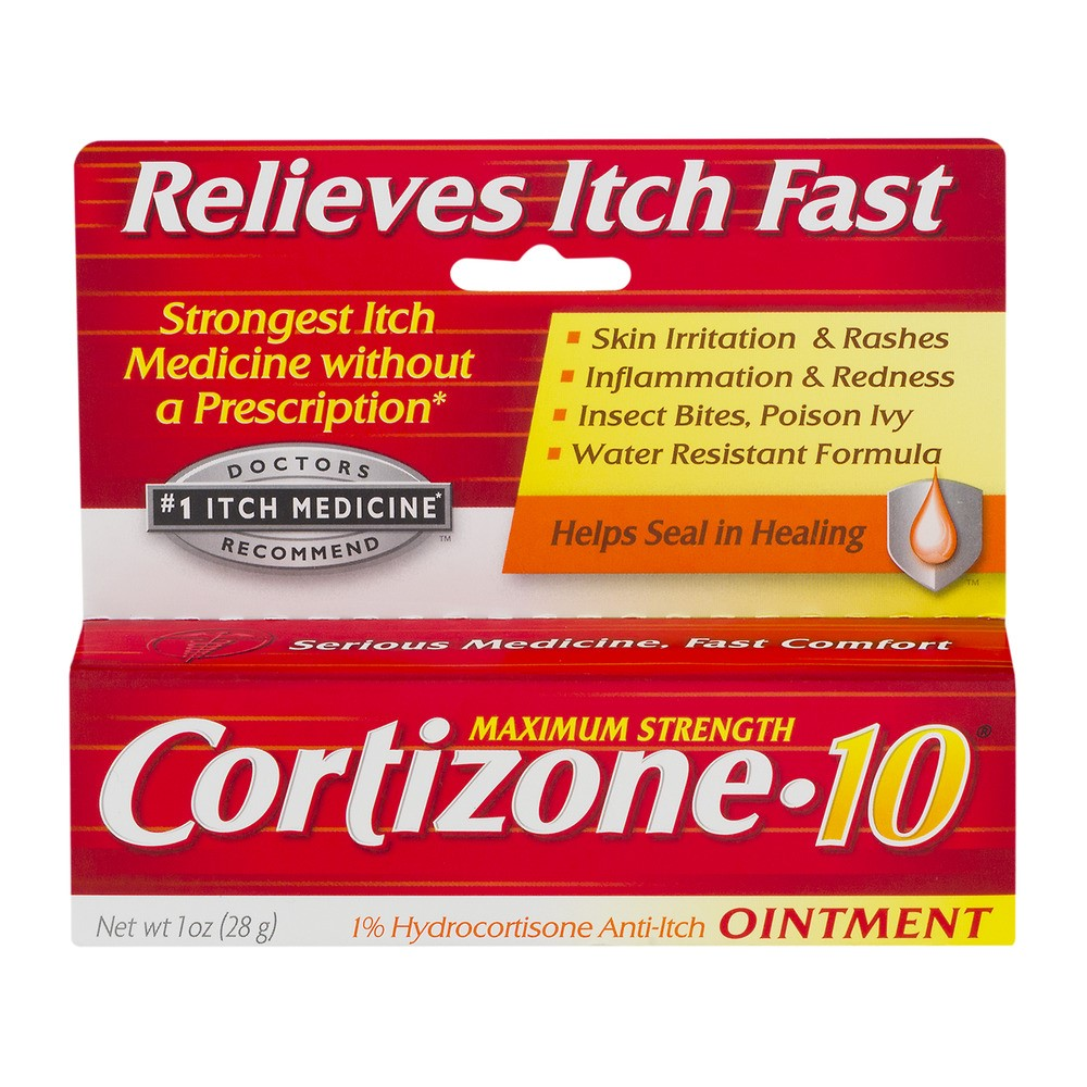 Cortisone 10 Anti-Itch Ointment, Maximum Strength, 1 Ounce (28 g)
