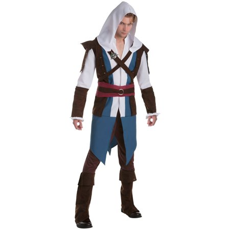 Assassin's Creed: Edward Classic Men's Adult Halloween Costume, L (Edward Elric Halloween)