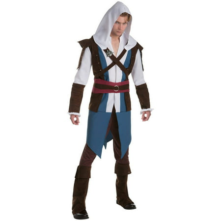 Assassin's Creed: Edward Classic Men's Adult Halloween Costume, - Women's Assassin's Creed Costume