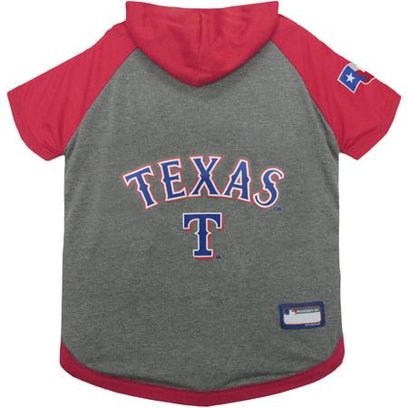 Pets First Mlb Texas Rangers Hoodie Tee Shirt