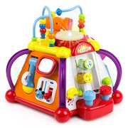 Toysery Musical Activity Cube Toy for Kids - Educational Game Play Center Music Box Toy - Lights, Sounds & 15 Functions.
