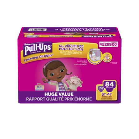Pull-Ups Girls' Learning Designs Training Pants, Size 3T/4T (Choose Pant Count)