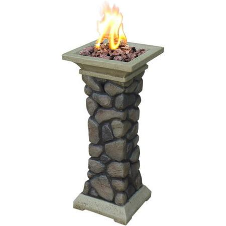 Tuscan Ridge Column LP Gas Fire Pit Bowl - Walmart.com