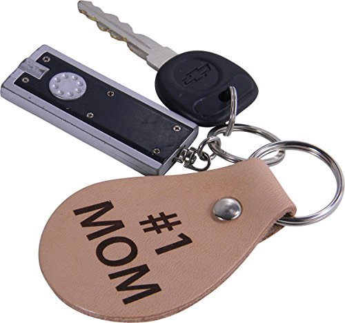 #1 Mom Leather Key Chain Great Gift for Motherss Day Birthday for Mom Grandma Wife
