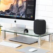 FITUEYES Computer Monitor Riser Desktop Stand 23.6 inch Clear DT106006GC