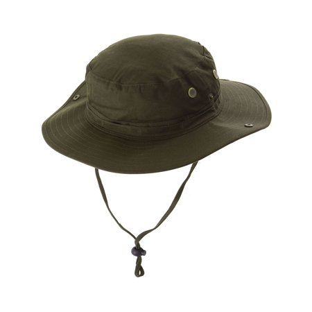 100% Cotton Summer Outdoor Safari Fishing Bucket Hat Olive - Walmart.com 5959843c4f8