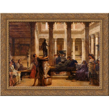 a roman art lover 24x20 gold ornate wood framed canvas art by alma
