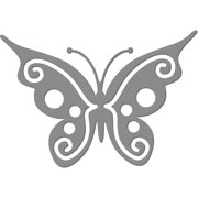 "Ultimate Crafts Die-Fancy Butterfly, 1.9""X1.3"""