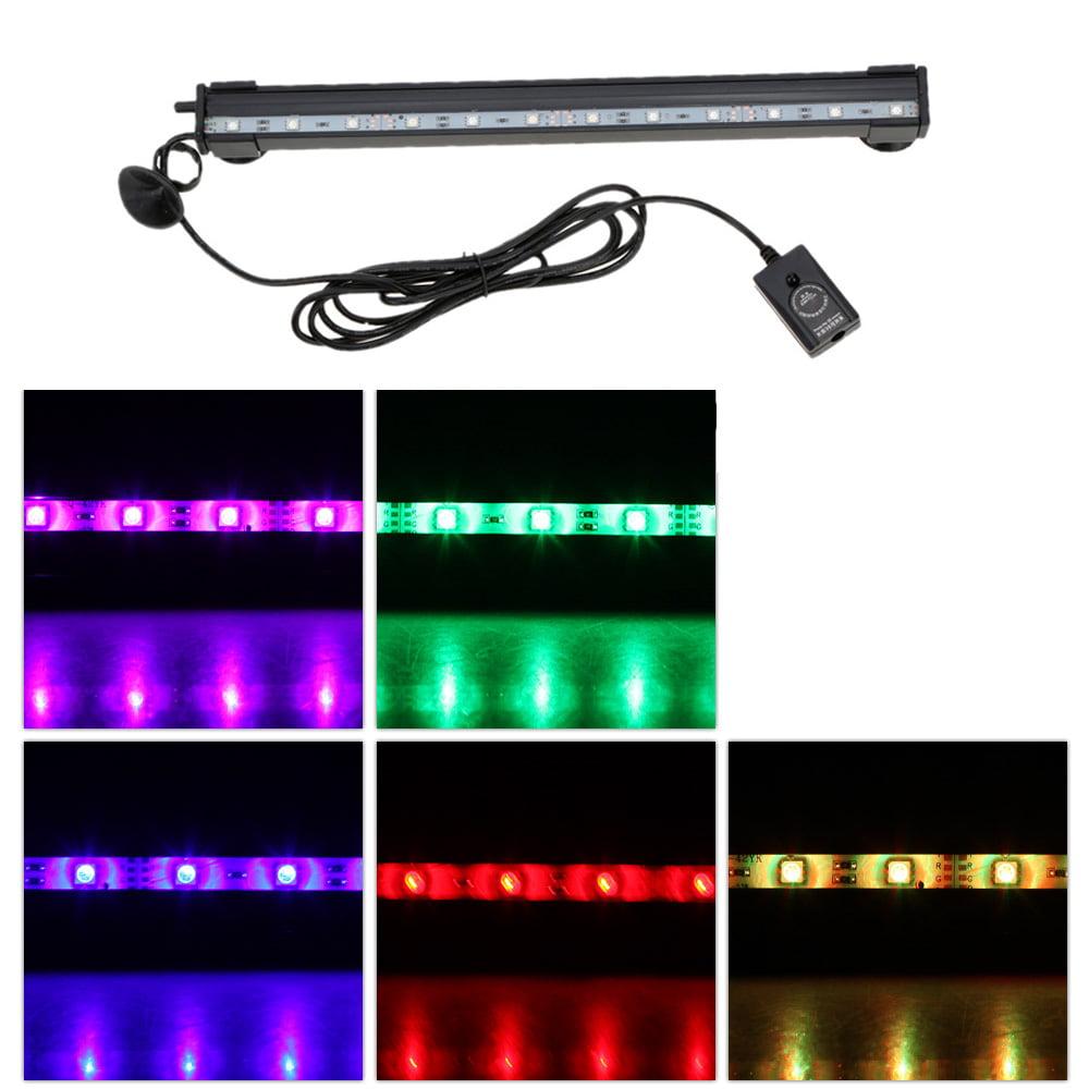 Anself 24cm 3.5w 9 LEDs Bubble Aquarium Light 120 Degree RGB 15Colors IP68 Submersible Remote Control Fish... by