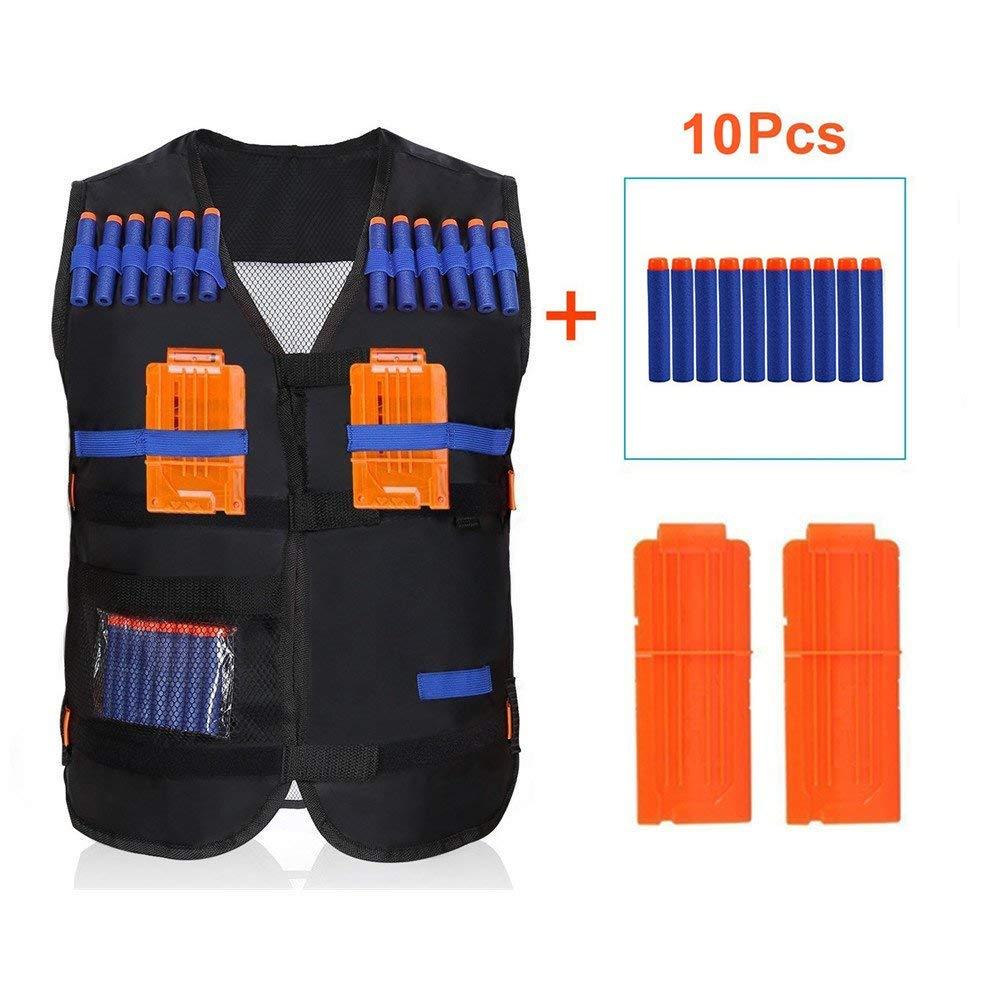 Yosoo Tactical Vest Kit with Clips & Soft Foam Darts for  Elite Series Vest for Kids Blaster Gun Play