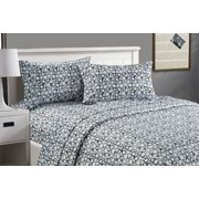 CarlyleHome Queen Size Soft Touch Printed Sheet Set - Pebble Effect