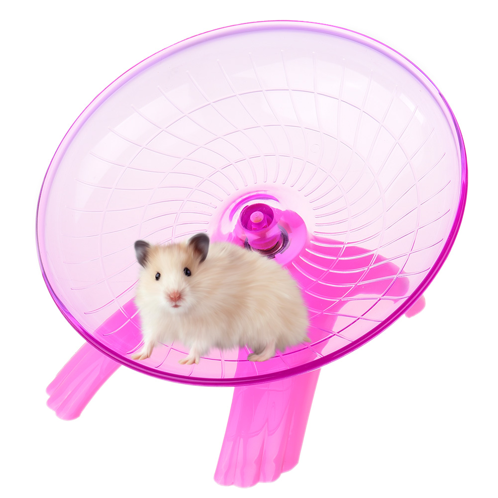 Hamster Exercise Wheel Durable Hamster Toy, 7.1'' Diameter, Pink
