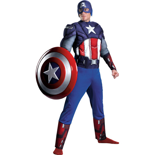 Marvel Captain America (The Avengers) Muscle Adult Halloween Costume