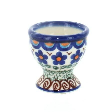 Polish Pottery Aztec Flower Egg Cup