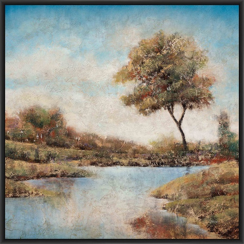 PTM Images Trees Upon the Water II Framed Painting Print on Canvas
