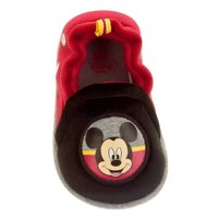 Disney Infant Boys & Girls Red & Black Mickey Mouse Slippers Baby Crib Shoes