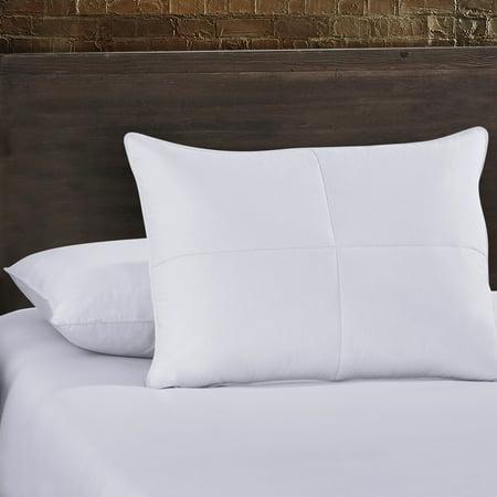 White Feather Goose Down Pillow Set Of 2 100 Cotton