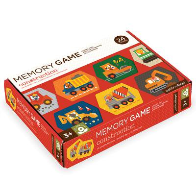 Petit Collage Construction Memory Game (Construction Game)