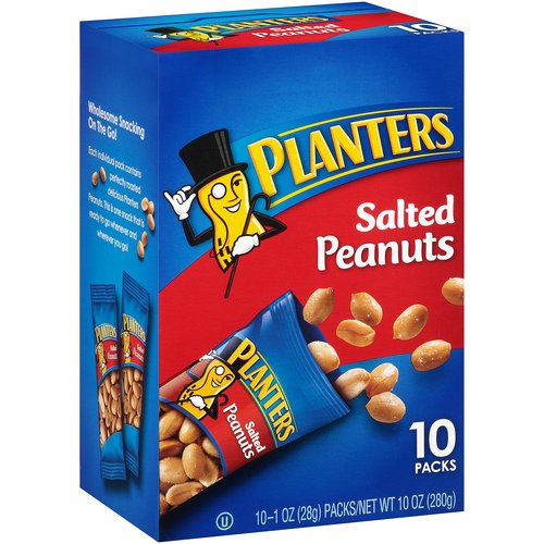 Planters Salted Peanuts, 1 oz, 10 count