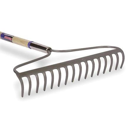 16-tine Bow Rake with 60L Wood Handle WESTWARD