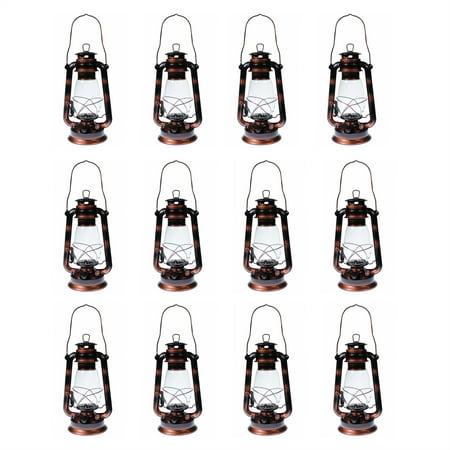 Lot of 12 - Hurricane Kerosene Oil Lantern Emergency Hanging Light Lamp Brass 12