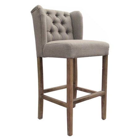 Wellington Contemporary Wood/Linen Barstool