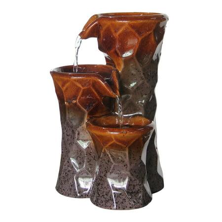 Alpine Ceramic (Alpine 10 in. 3-Tiered Ceramic Tabletop Fountain )