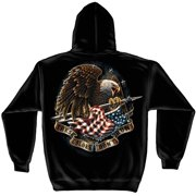 These Colors Don't Run Patriotic Hooded Sweatshirt by , Black, 3XL