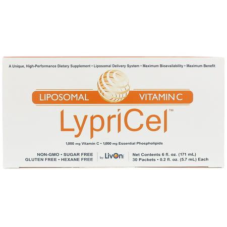 LypriCel, Liposomal Vitamin C, 30 Packets, 0.2 fl oz (5.7 ml) (Best Liposomal Vitamin C On The Market)