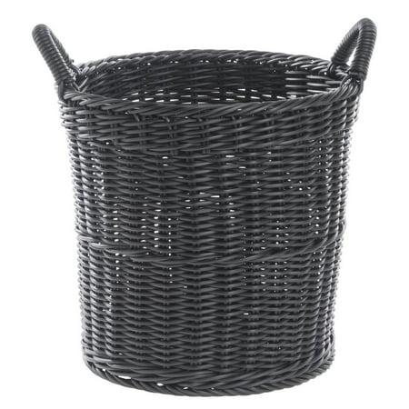 Wicker Display Basket Plastic Black - 14
