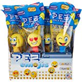 Cp You Get 1 PEZ Emoji Assorted Candy Dispenser, 0.58 Ounce (Color and Pattern Will Be Random)