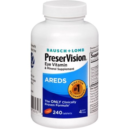 Bausch & Lomb PreserVision Areds,  240 Tablets