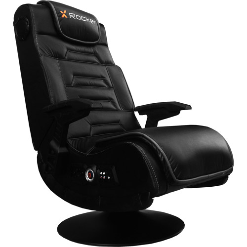 X Video Rocker Pro Series Pedestal 2.1 Wireless Audio Gaming Chair, Black, 51396