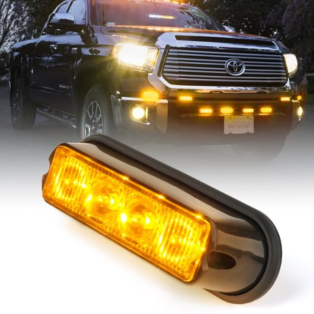 Xprite Amber Marker Series 4W Surface Mount Grille Strobe Light Head ()