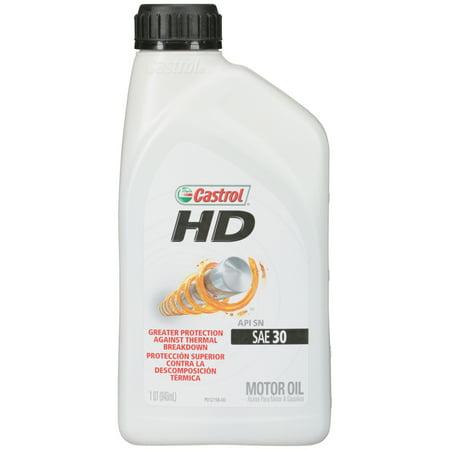 Castrol hd sae 30 motor oil 1 qt bottle for Hd 30 motor oil