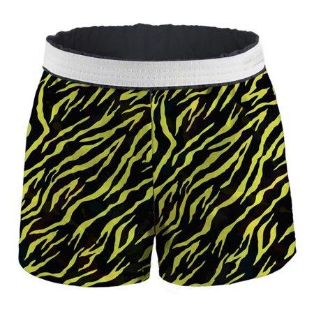 Juniors Printed Authentic Cotton Short, Solar Yellow Zebra - Large - image 1 of 1