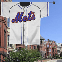 New York Mets 34'' x 30'' White Double-Sided Jersey Flag - No Size
