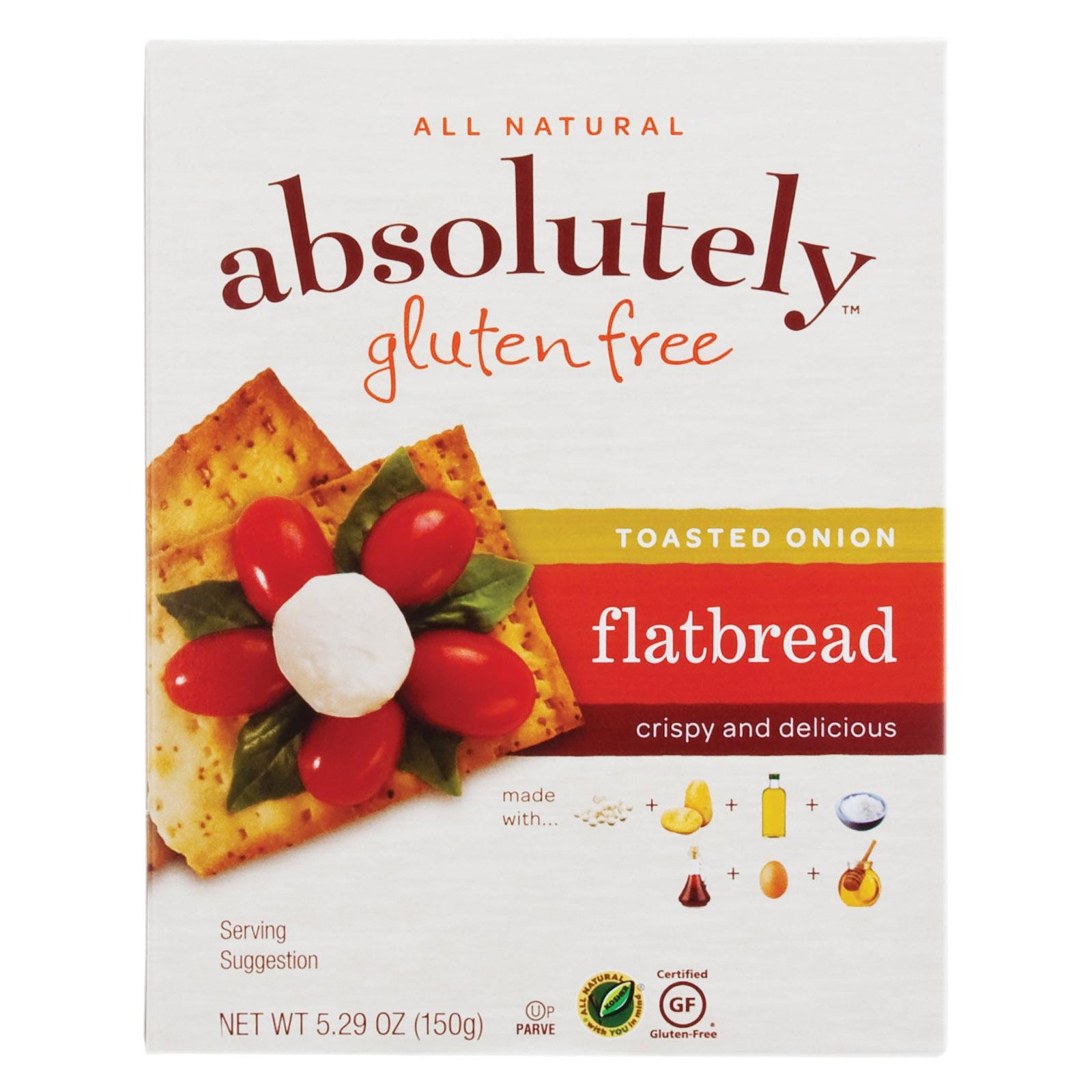 Absolutely Gluten Free Flatbread - Toasted Onion - Pack of 12 - 5.29 Oz.