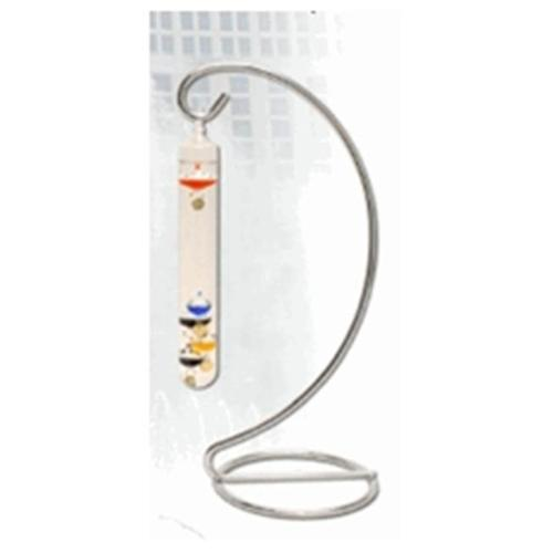 G. W.  Schleidt 322405 9 inch Hanging Multi Galileo Thermometer on 15 inch Silver Stand
