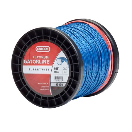 "Genuine Oregon 20-109 Platinum Gatorline 1 lb. Spool String Trimmer Line .095"" Guage"