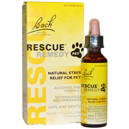 Bach Flower Essences Rescue Remedy Pet 20 Ml, Pack of 2 Homeopathic Remedies Pets